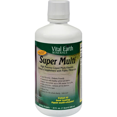 Vital Earth Minerals Super Multi Passion Fruit - 32 Fl Oz Vital Earth Minerals