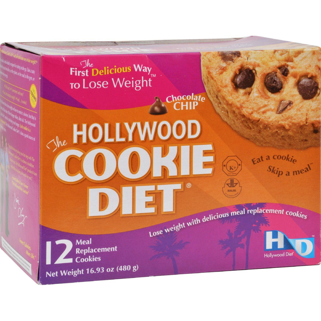Mother Mantis: Hollywood Diet Miracle Products Cookie Diet Meal Replacement Cookie Chocolate Chip - 12 Cookies Hollywood Diet