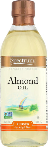 Spectrum Naturals Refined Sweet Almond Oil - Case Of 12 - 16 Fl Oz. Spectrum Naturals