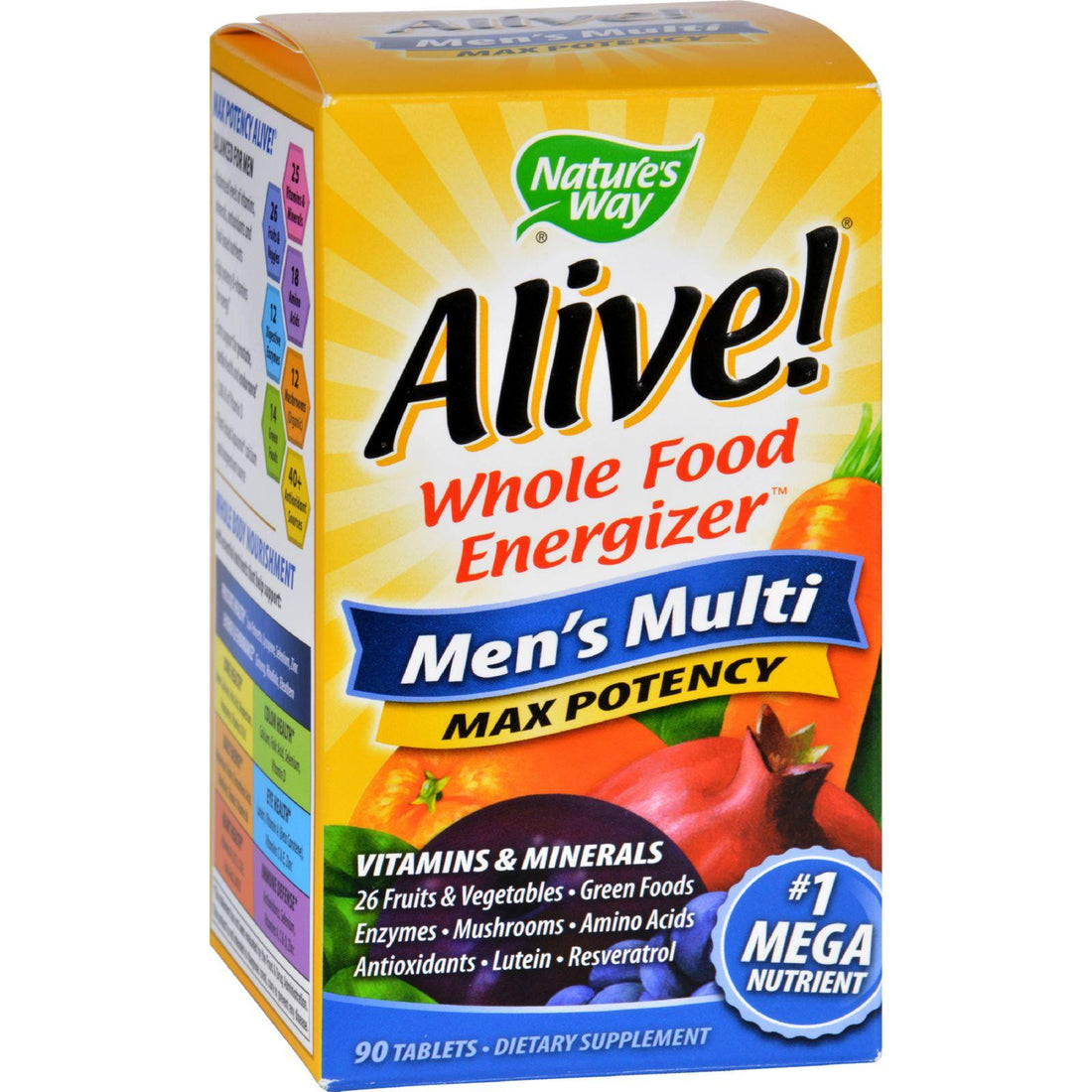 Mother Mantis: Nature's Way Alive Men's Multi - 90 Tablets Nature's Way