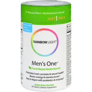 Rainbow Light Men's One Energy Multivitamin - 30 Tablets Rainbow Light