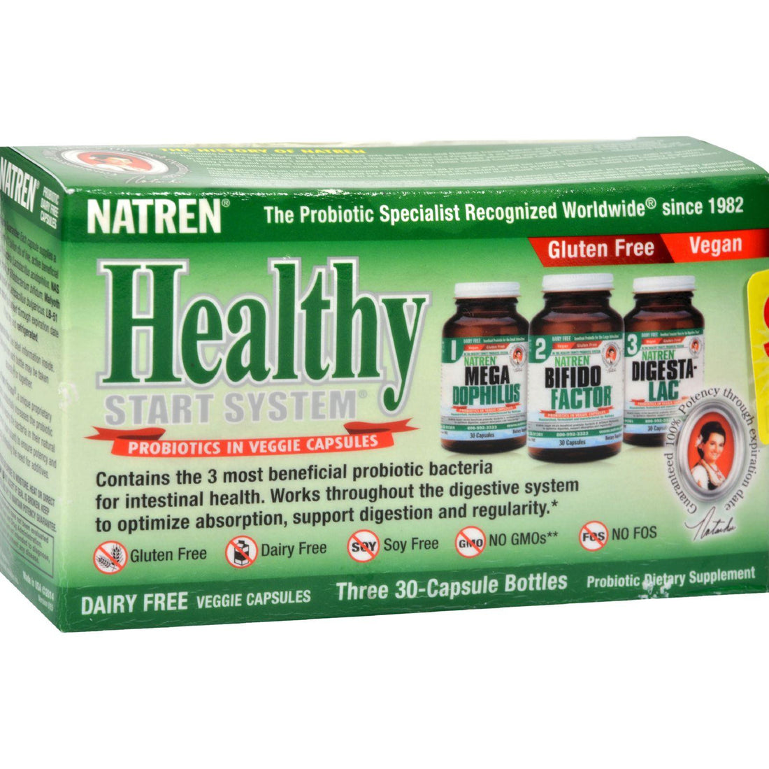 Mother Mantis: Natren Healthy Start System Dairy Free - 3 Bottles Natren