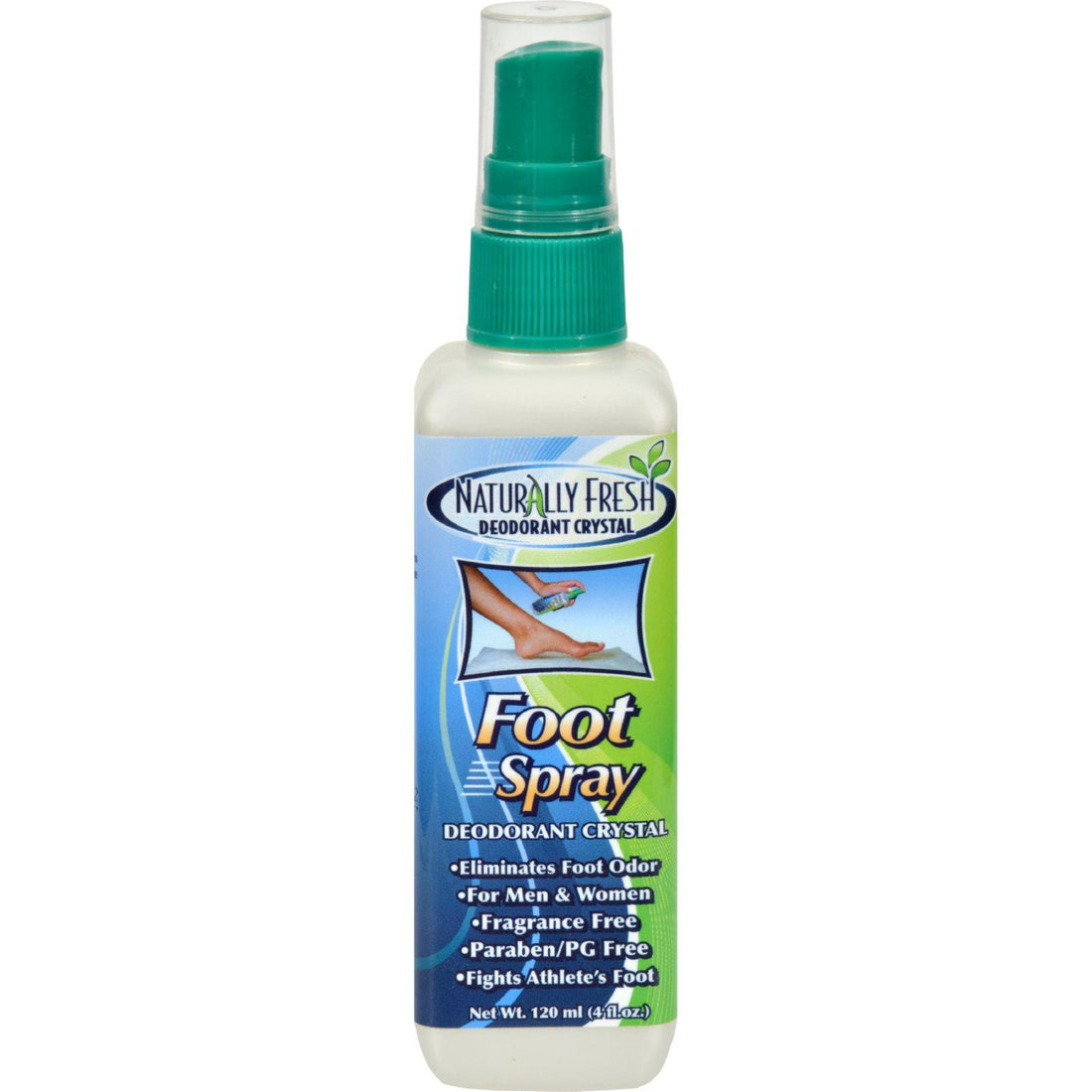 Mother Mantis: Naturally Fresh Foot Spray Deodorant Crystal - 4 Fl Oz Naturally Fresh