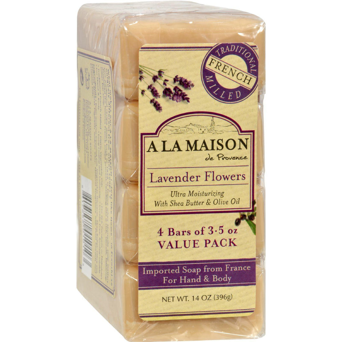 Mother Mantis: A La Maison Bar Soap - Lavender Flower - Value 4 Pack A La Maison