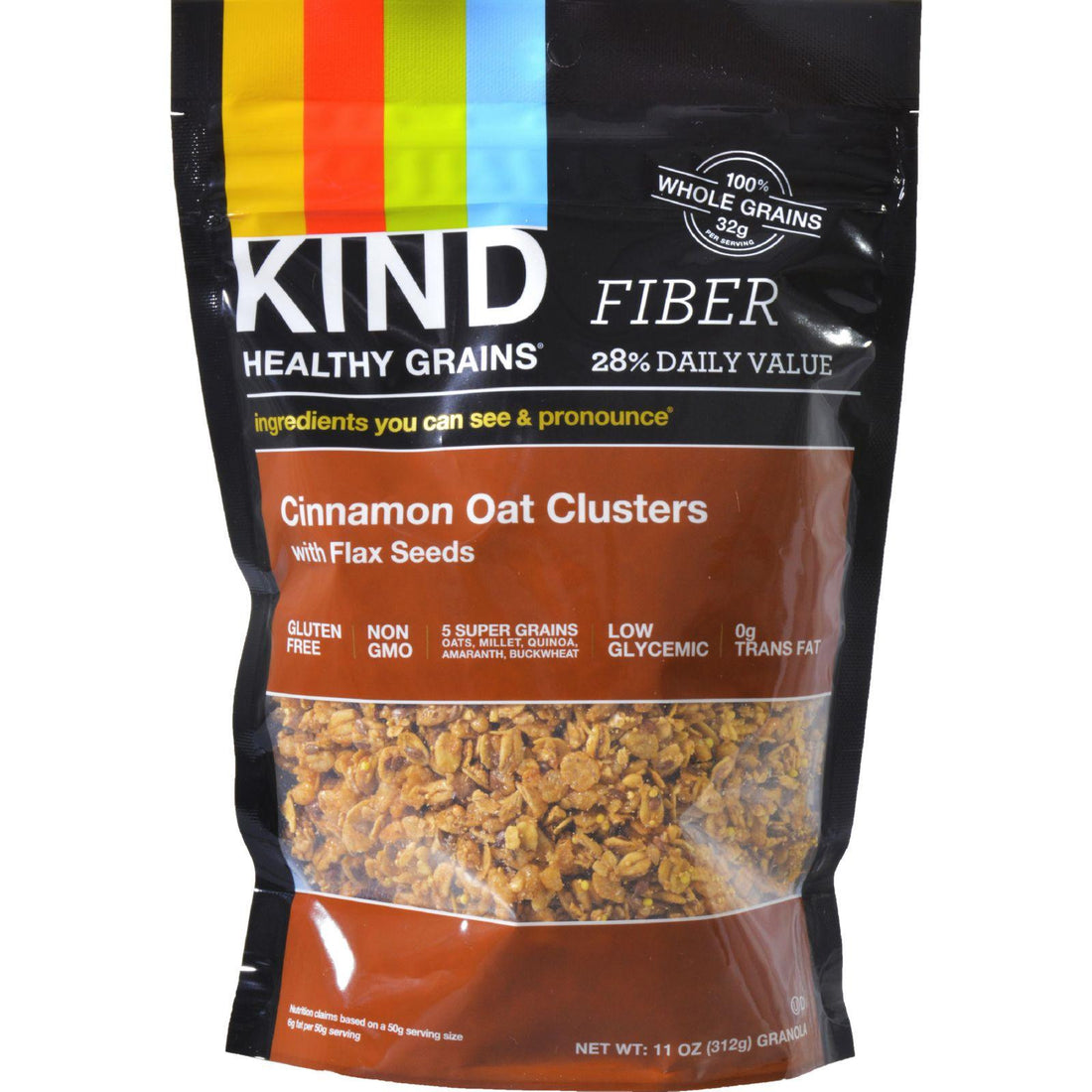 Mother Mantis: Kind Healthy Grains Cinnamon Oat Clusters With Flax Seeds - 11 Oz - Case Of 6 Kind
