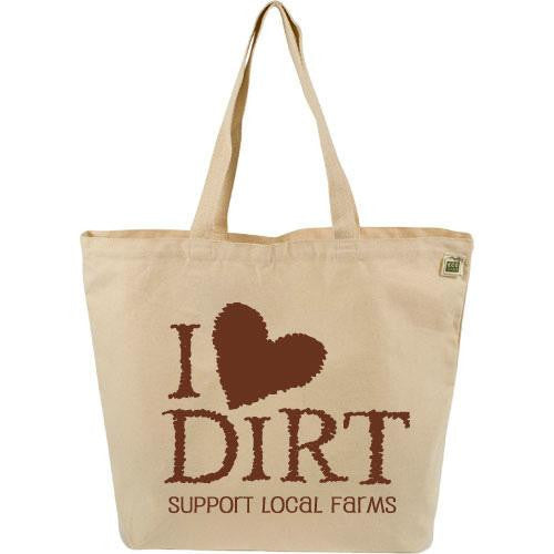 Mother Mantis: Ecobags Farmers Market Tote - I Love Dirt - 1 Bag Ecobags