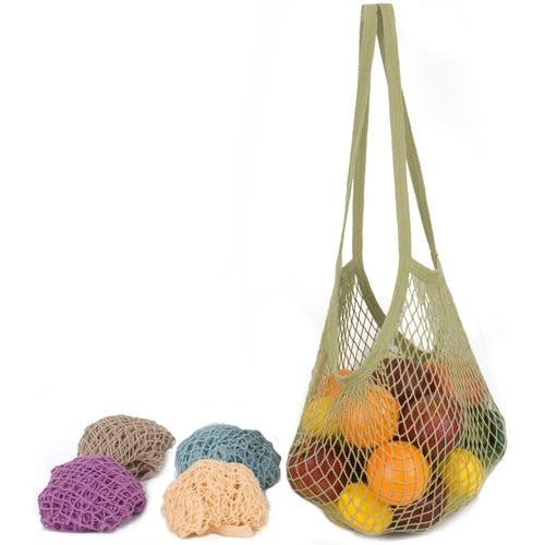 Mother Mantis: Ecobags Classic String Bag Assorted Pastels - Long Handle - 1 Bag Ecobags