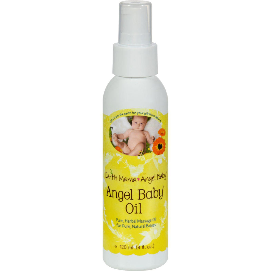 Mother Mantis: Earth Mama Angel Baby Oil - 4 Oz Earth Mama Angel Baby