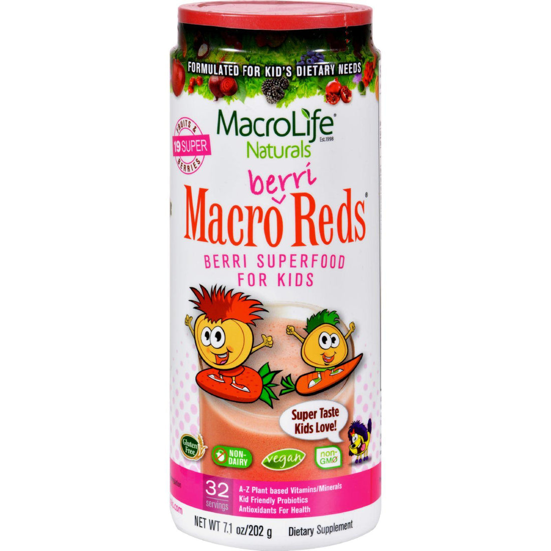 Mother Mantis: Macrolife Naturals Jr. Macro Reds For Kids Berri - 7.1 Oz Macrolife Naturals