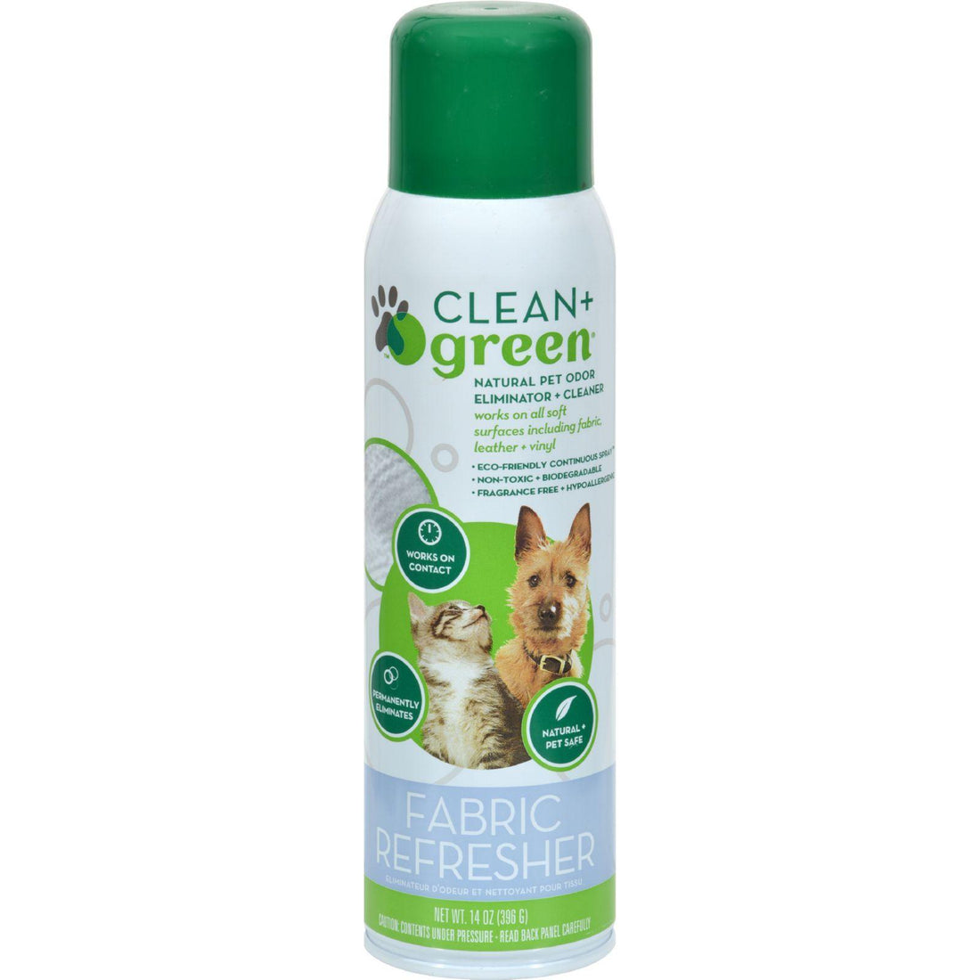 Mother Mantis: Clean And Green Fabric Pet Refresher - 14 Oz Clean And Green
