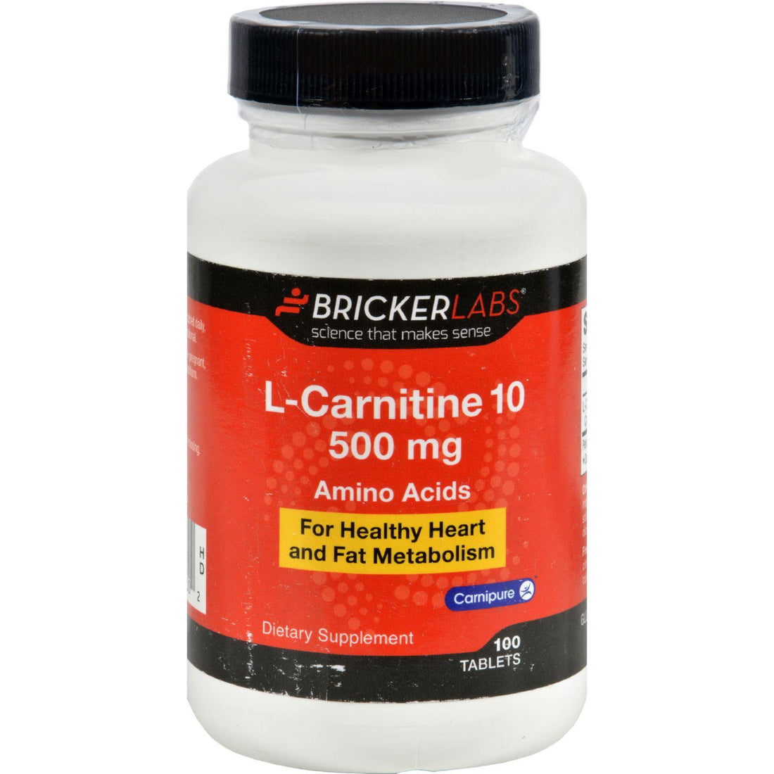 Mother Mantis: Bricker Labs Carnipure L-carnitine - 500 Mg - 100 Tablets Bricker Labs