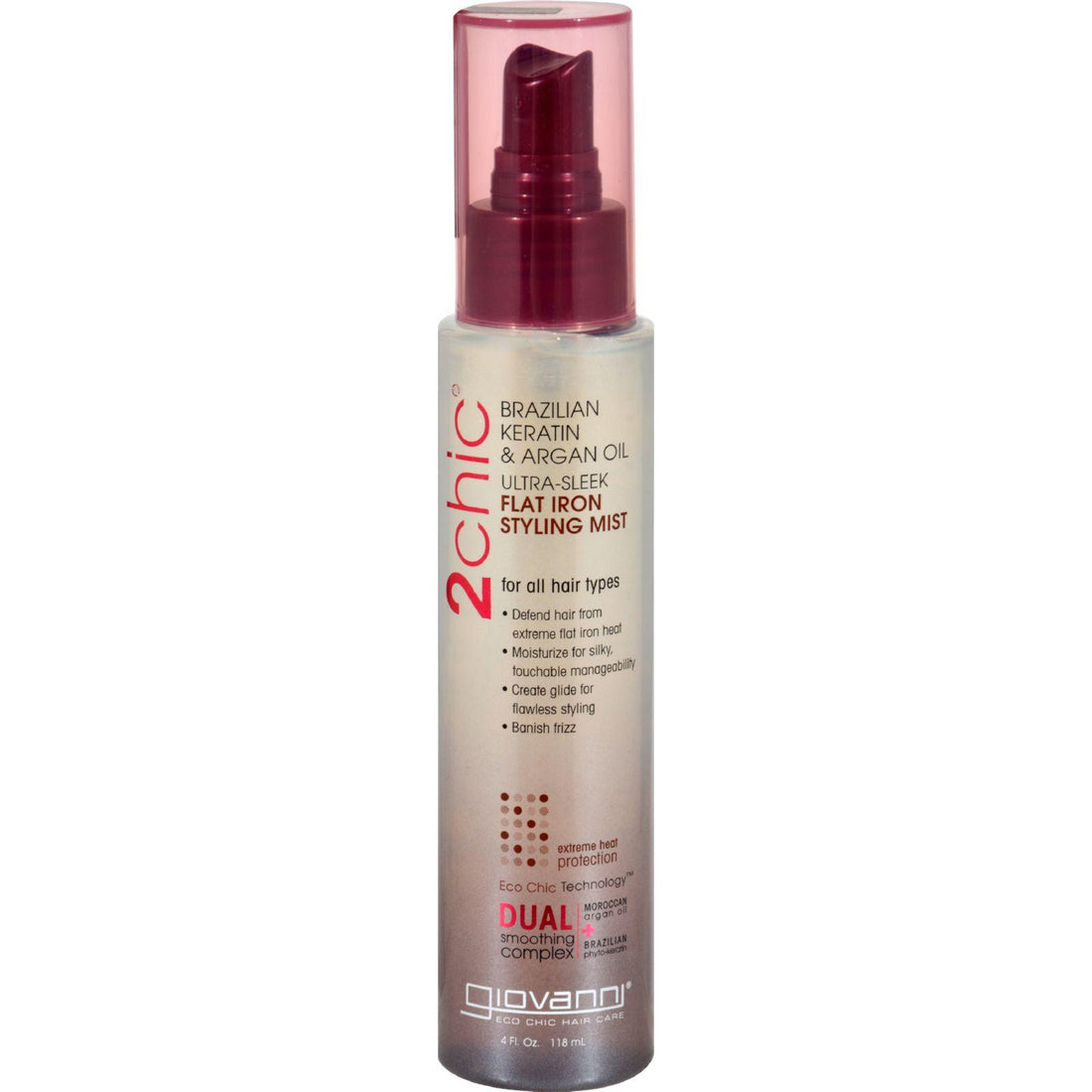 Mother Mantis: Giovanni 2chic Flat Iron Styling Mist With Brazilian Keratin And Argan Oil - 4 Fl Oz Giovanni Hair Care Products