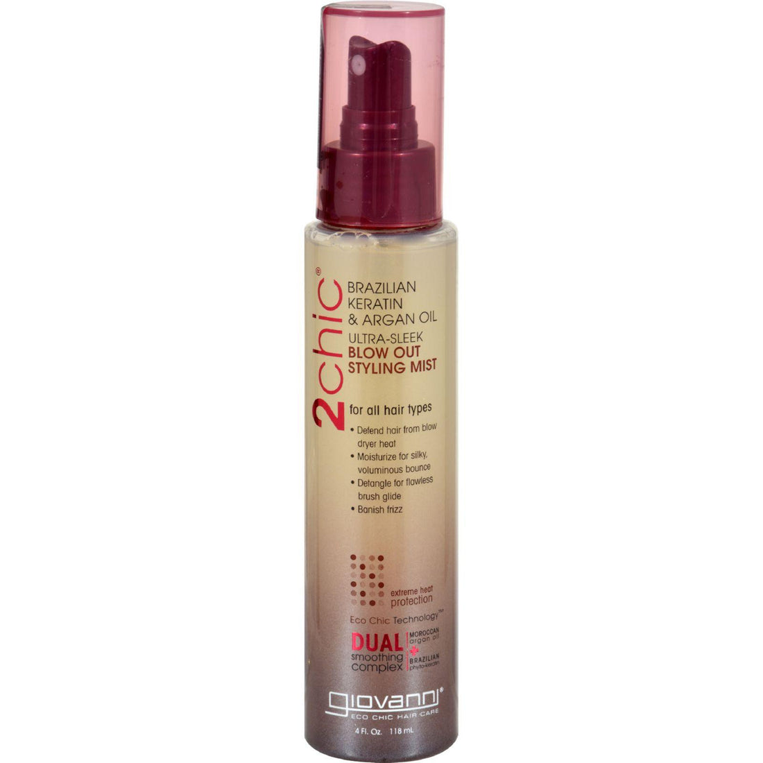 Mother Mantis: Giovanni 2chic Blow Out Styling Mist With Brazilian Keratin And Argan Oil - 4 Fl Oz Giovanni Hair Care Products
