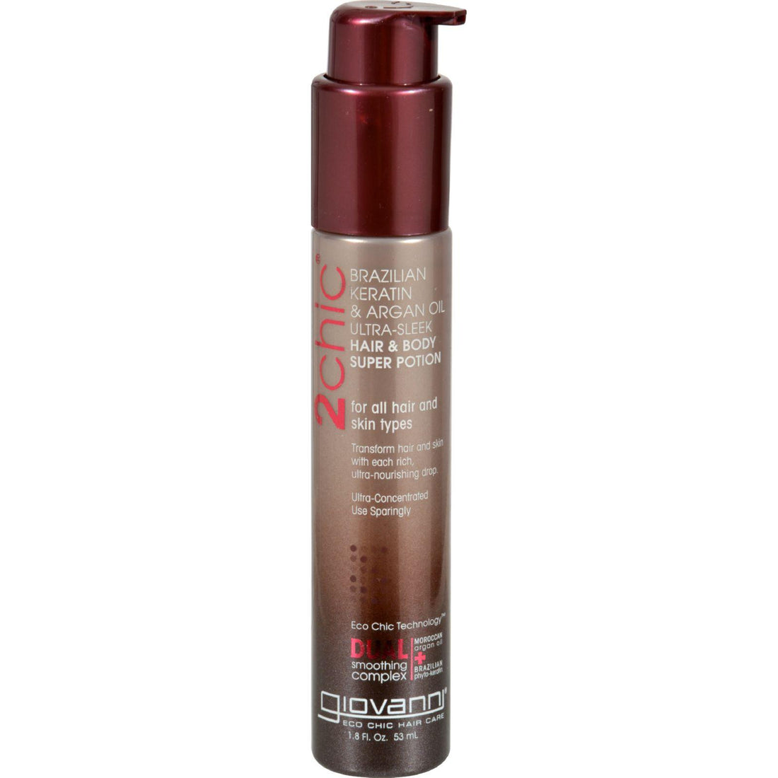 Mother Mantis: Giovanni 2chic Ultra-sleek Hair And Body Super Potion With Brazilian Keratin And Argan Oil - 1.8 Fl Oz Giovanni Hair Care Products