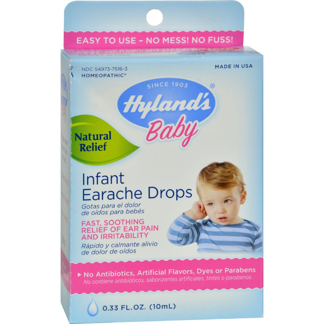 Mother Mantis: Hyland's Baby Infant Earache Drops - 0.33 Fl Oz Hyland's