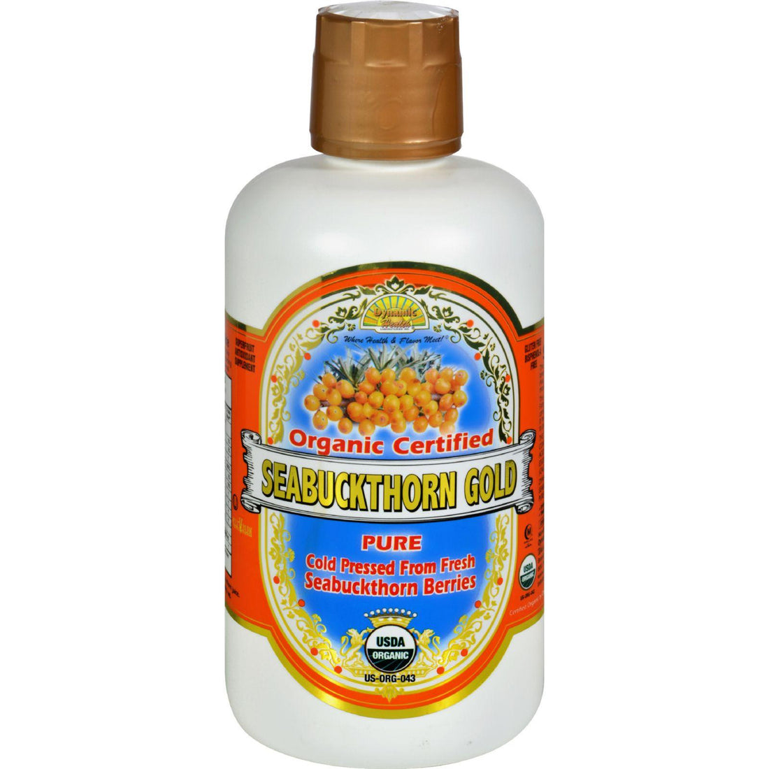Mother Mantis: Dynamic Health Organic Certified Seabuckthorn Gold - 32 Fl Oz Dynamic Health