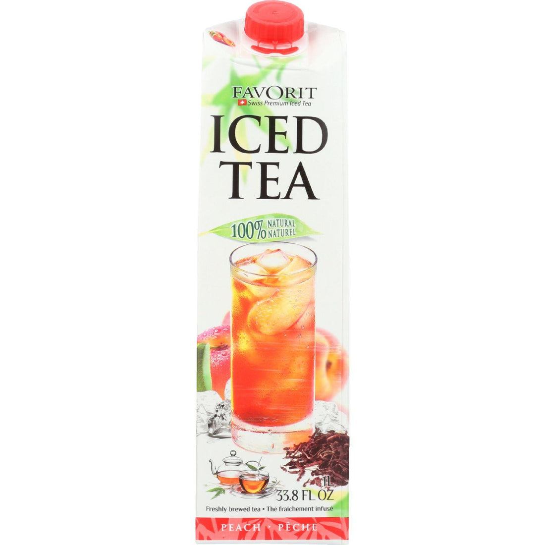Mother Mantis: Favorit Tea - Iced - Peach - With 9 Percent Peach Juice - 33.8 Oz - Case Of 6 Favorit