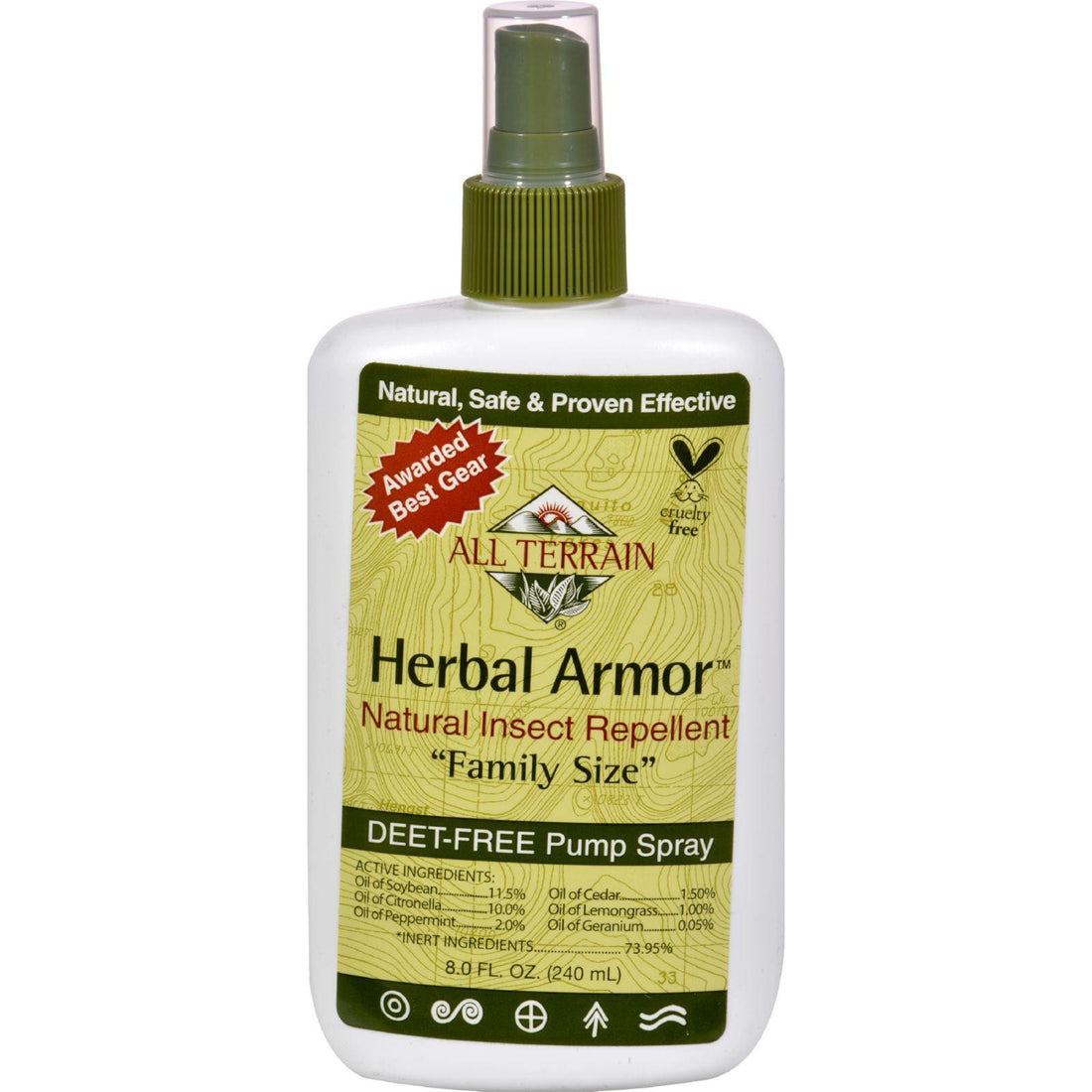 Mother Mantis: All Terrain Herbal Armor Natural Insect Repellent Family Size - 8 Fl Oz All Terrain