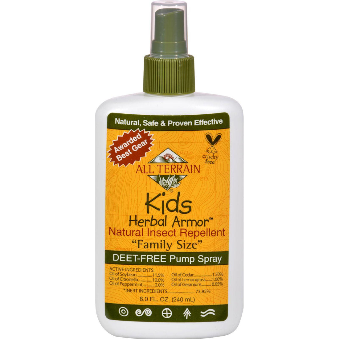 Mother Mantis: All Terrain Herbal Armor Natural Insect Repellent - Kids - Family Sz - 8 Oz All Terrain