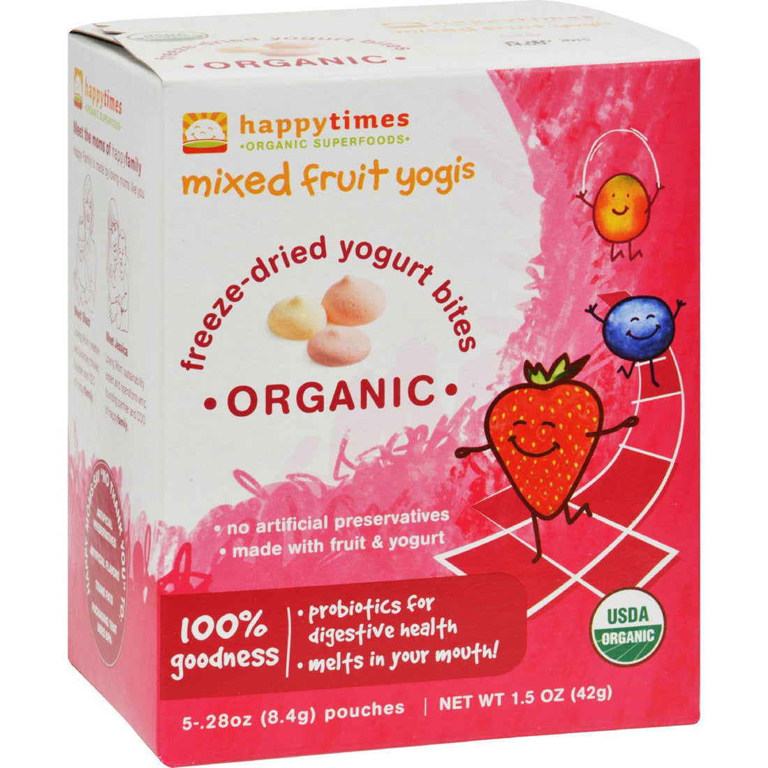 Mother Mantis: Happy Baby Happytimes Mixed Fruit Yogis Organic Mixed Fruit - Case Of 30 - .3 Oz Happy Baby