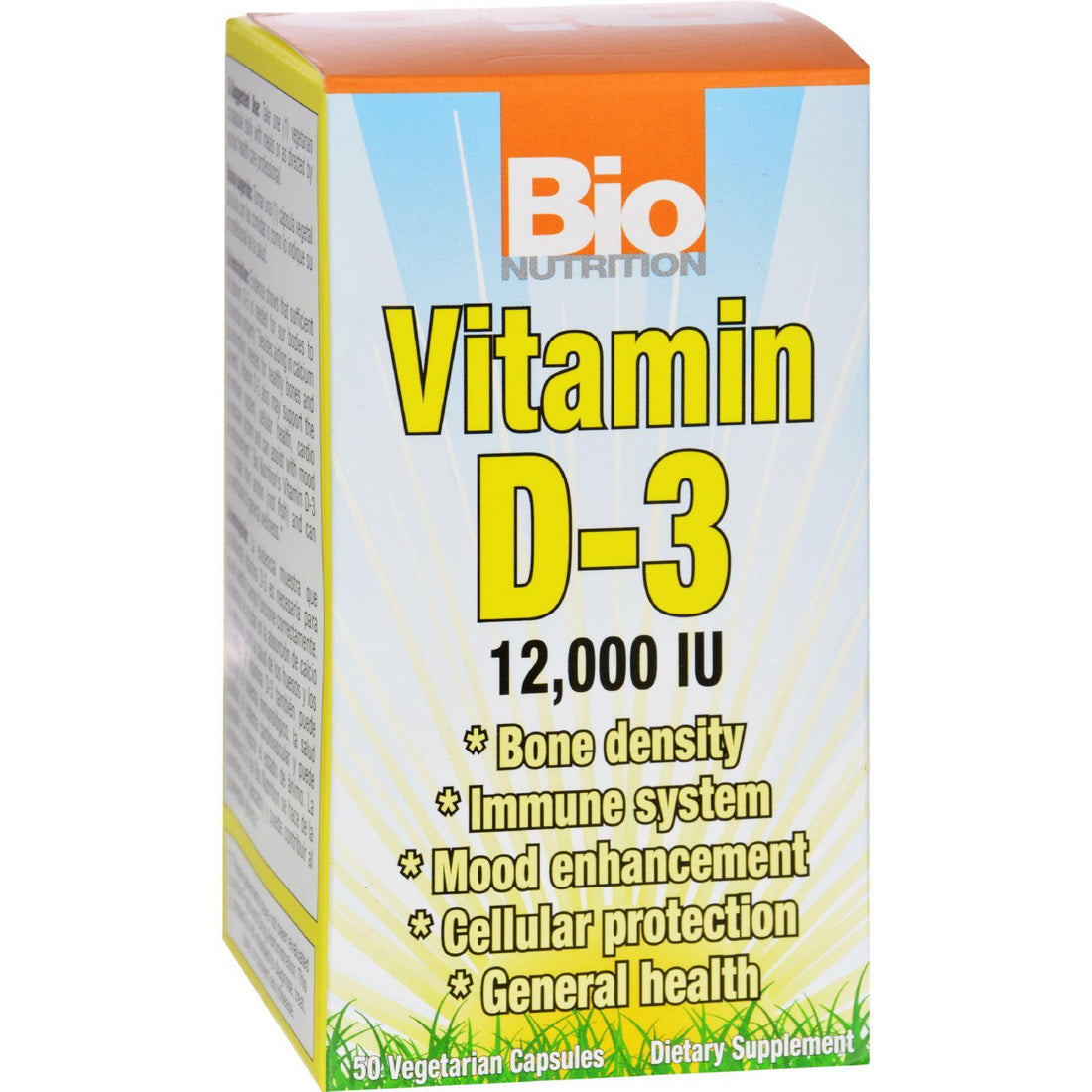 Mother Mantis: Bio Nutrition Vitamin D-3 - 12000 Iu - 50 Vegetarian Capsules Bio Nutrition