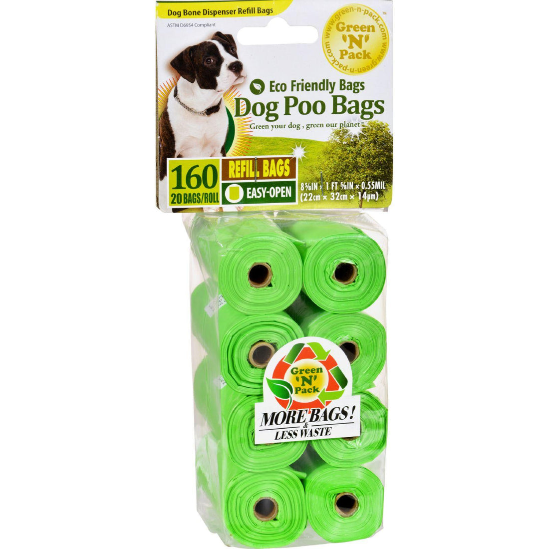 Mother Mantis: Eco-friendly Bags Dog Poo Bags Refill - 160 Pack Eco-friendly Bags