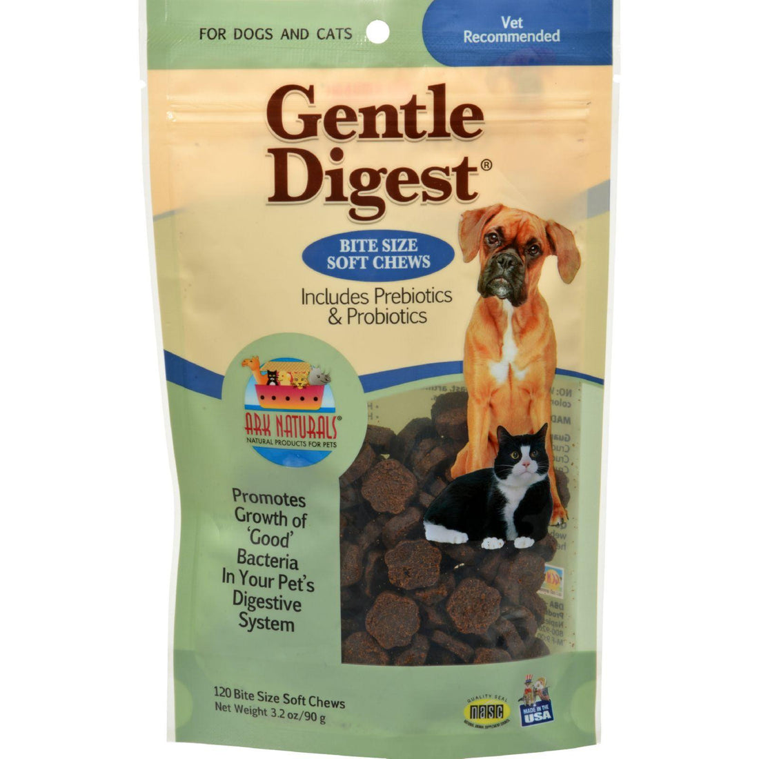 Mother Mantis: Ark Naturals Gentle Digest For Dogs And Cats - 120 Soft Chews Ark Naturals