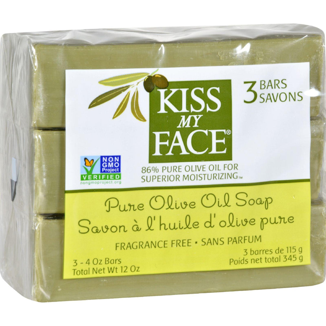 Mother Mantis: Kiss My Face Pure Olive Oil Moisturizing Soap - Pack Of 3 - 4 Oz Kiss My Face