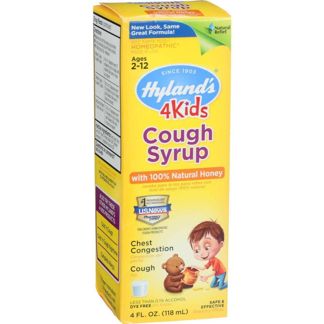 Mother Mantis: Hylands Homeopathic Cough Syrup - 100 Percent Natural Honey - 4 Kids - 4 Oz Hyland's