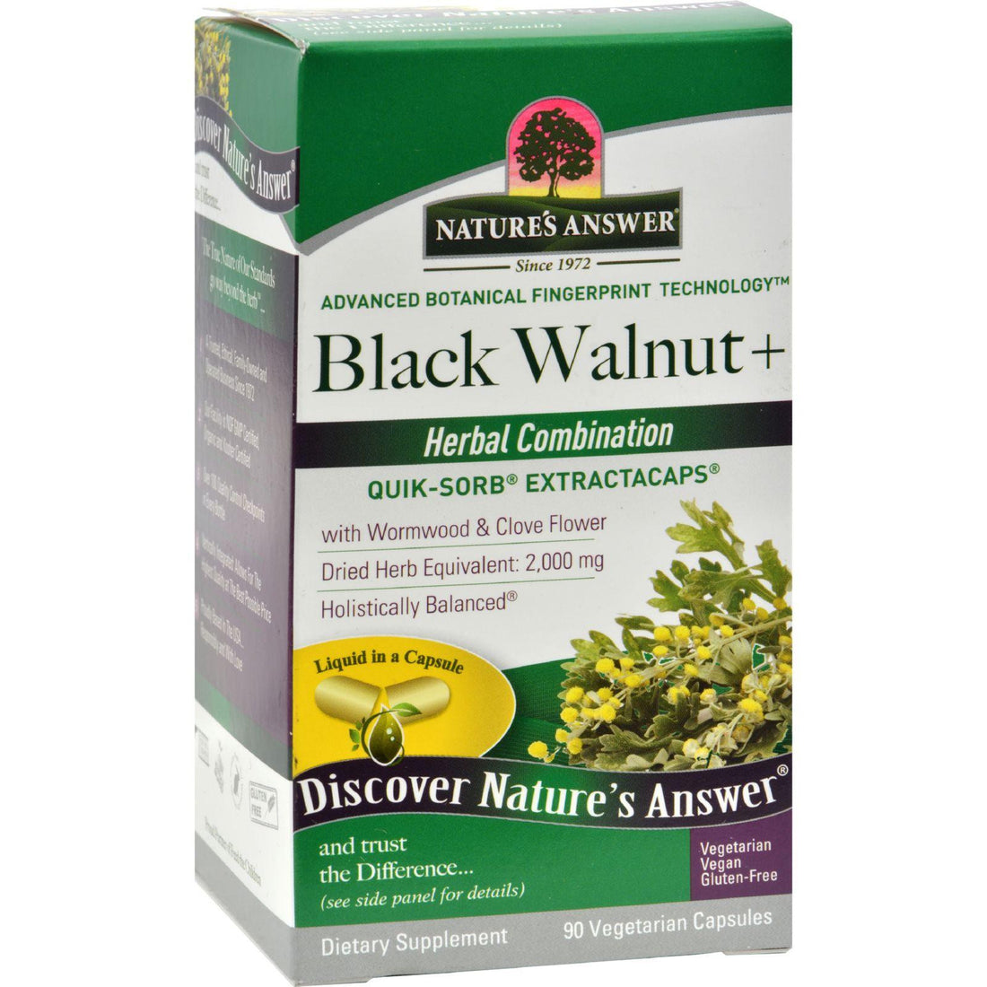 Mother Mantis: Nature's Answer Black Walnut And Wormwood - 90 Liquid Capsules Nature's Answer