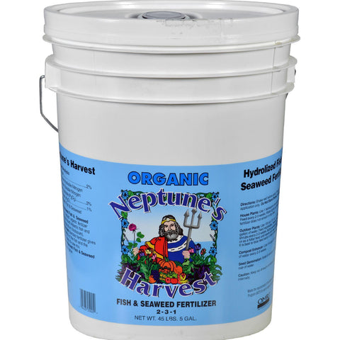 Neptune's Harvest Fish And Seaweed Fertilizer Blend - Blue Label - 5 Gallon Neptune's Harvest Fertilizers
