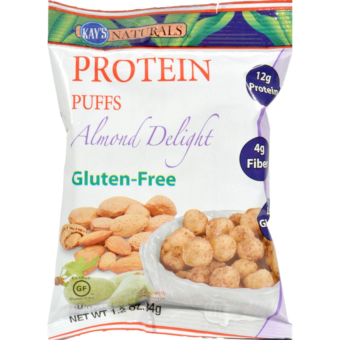 Mother Mantis: Kay's Naturals Protein Puffs - Almond Delight - Case Of 6 - 1.2 Oz Kay's Naturals