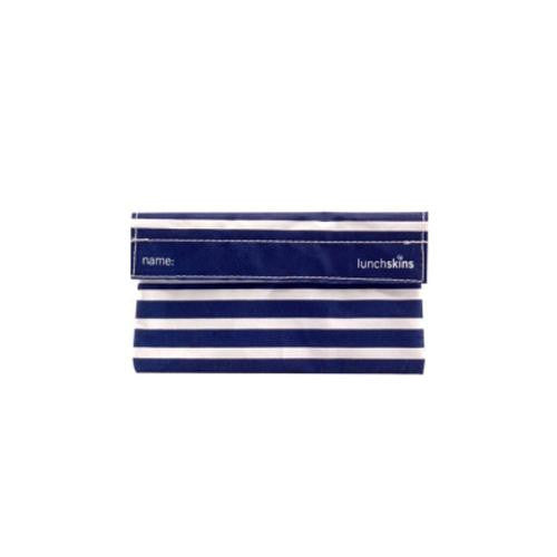 Mother Mantis: Lunchskins Snack Bag - Navy Stripe Lunchskins