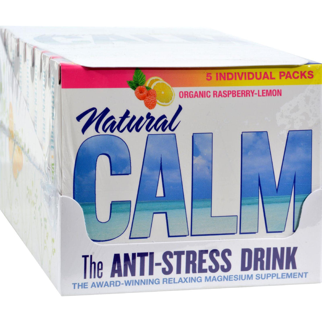 Mother Mantis: Natural Vitality Calm Counter Display - Raspberry Lemon - Case Of 8 - 5 Packs Natural Vitality