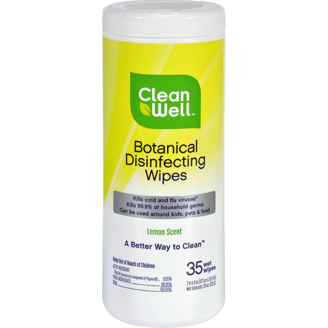 Mother Mantis: Cleanwell Disinfecting Wipes - 35 Count Cleanwell