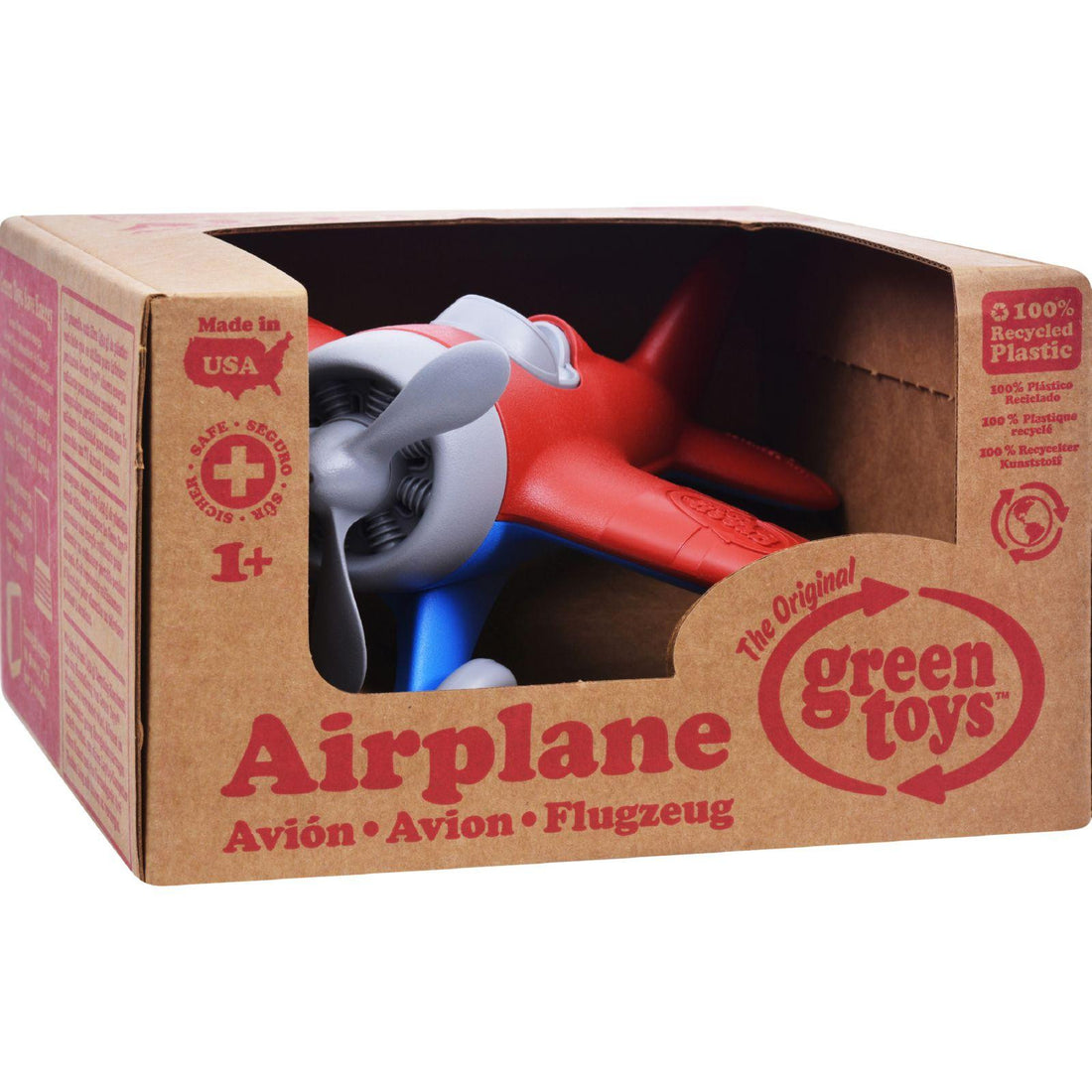 Mother Mantis: Green Toys Airplane - Red Green Toys