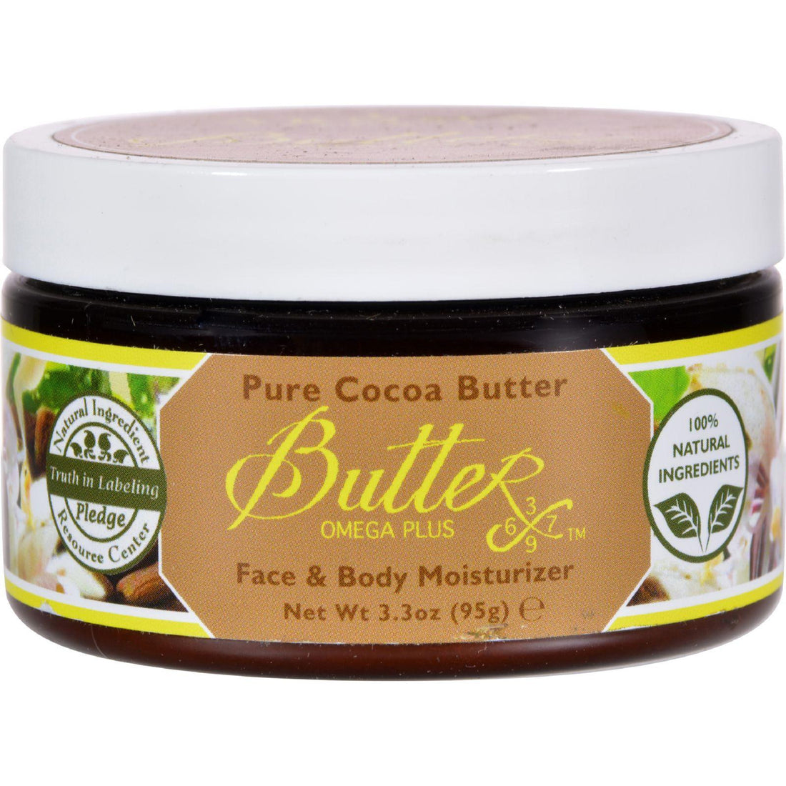 Mother Mantis: Aroma Naturals Body Butter - Pure Cocoa Butter - 3.3 Oz Aroma Naturals