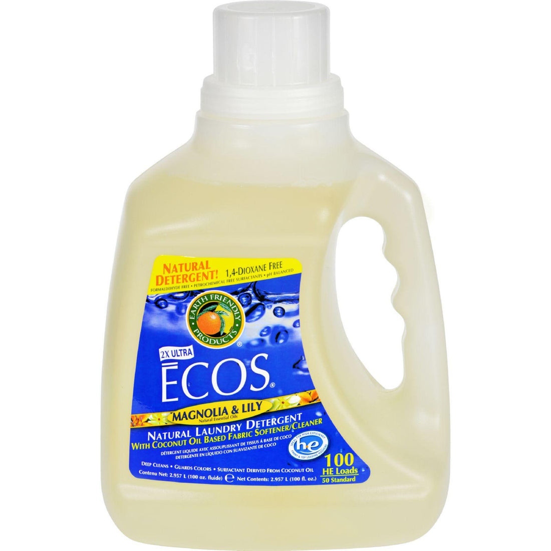 Mother Mantis: Earth Friendly Ecos Ultra 2x All Natural Laundry Detergent - Magnolia And Lily - 100 Oz Earth Friendly