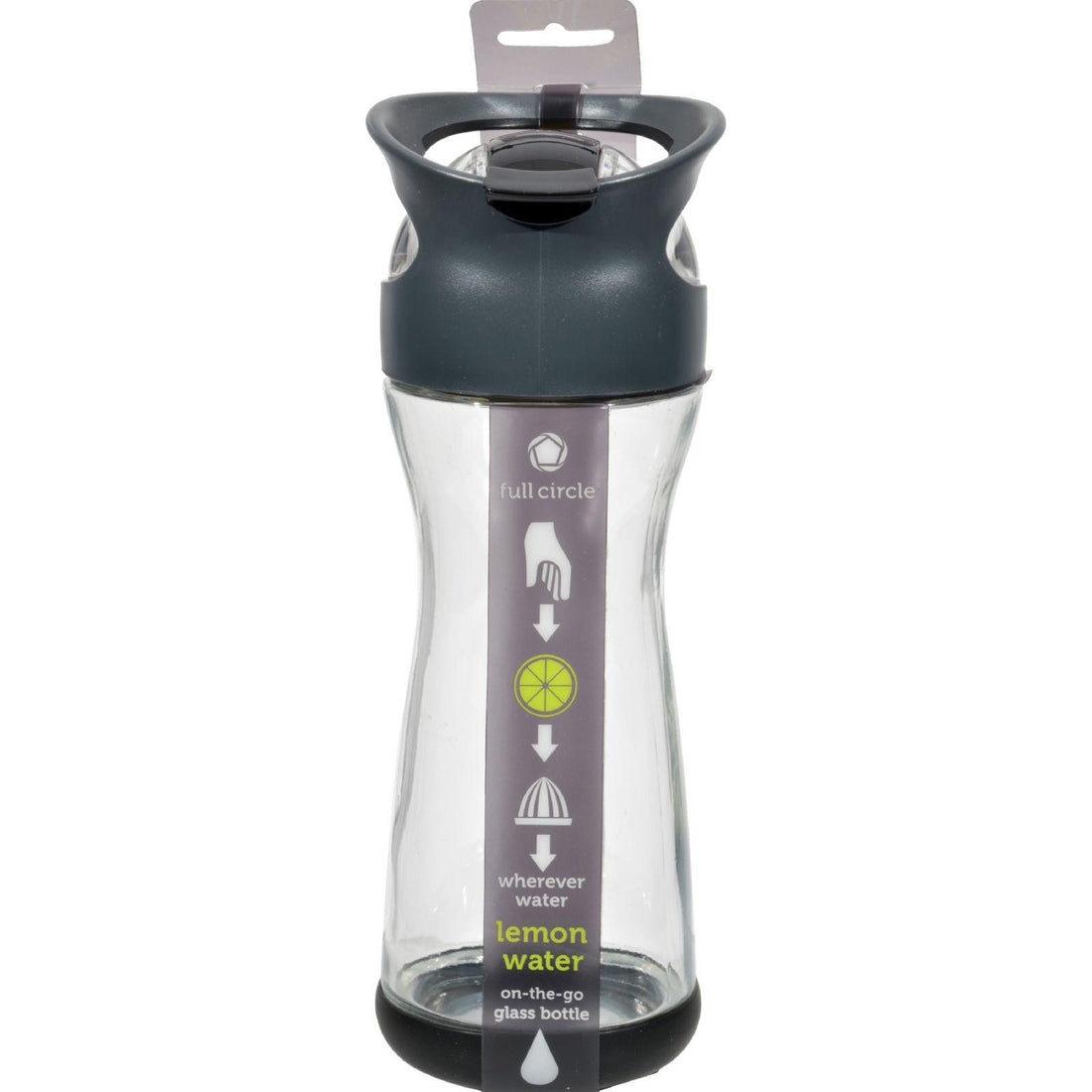 Mother Mantis: Full Circle Home On The Go Lemon Glass Water Bottle - Blackberry Full Circle Home
