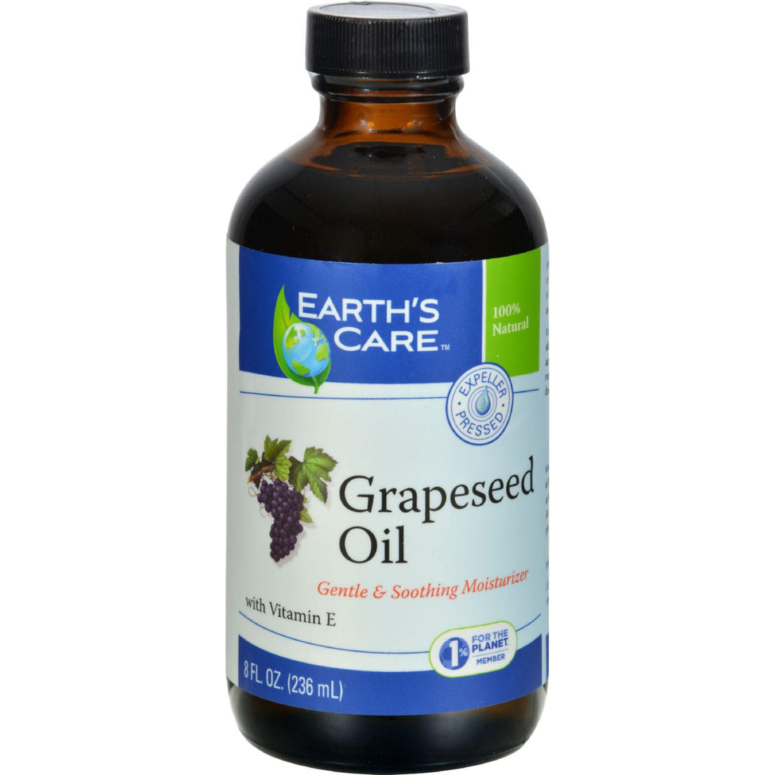 Mother Mantis: Earth's Care 100% Pure Grapeseed Oil - 8 Fl Oz Earth's Care