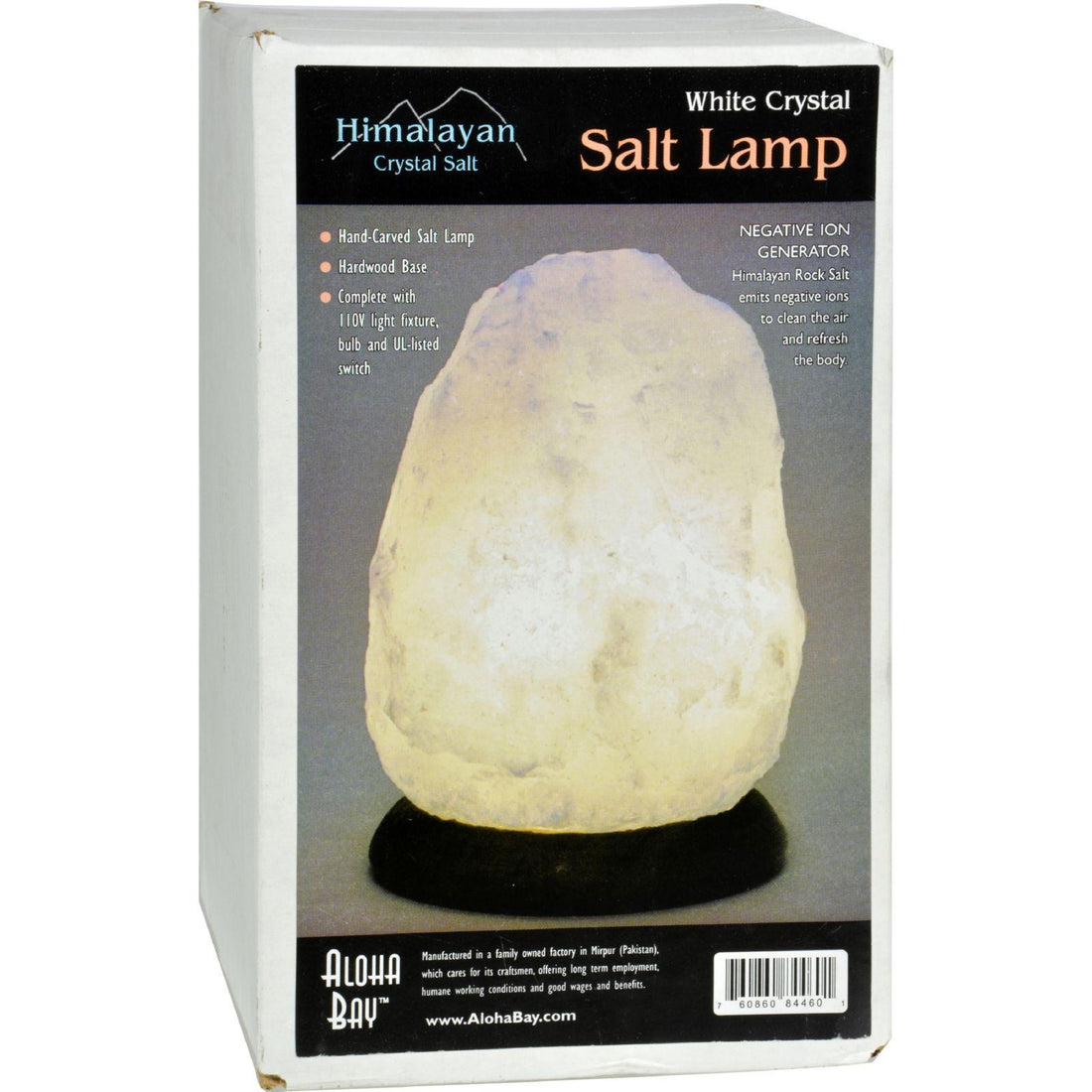 Mother Mantis: Himalayan Salt Lamp - White - 8 In Himalayan Salt