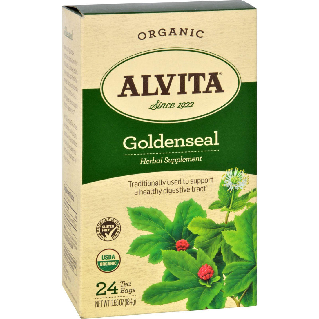 Mother Mantis: Alvita Teas Goldenseal Tea - Organic - 24 Tea Bags Alvita