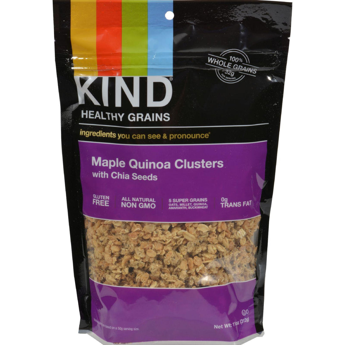 Mother Mantis: Kind Fruit And Nut Bars Clusters - Maple Walnut With Chia And Quinoa - 11 Oz - Case Of 6 Kind