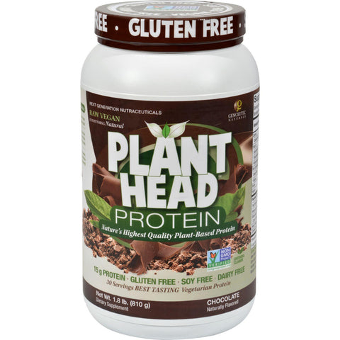 Genceutic Naturals Plant Head Protein - Chocolate - 1.7 Lb Genceutic Naturals