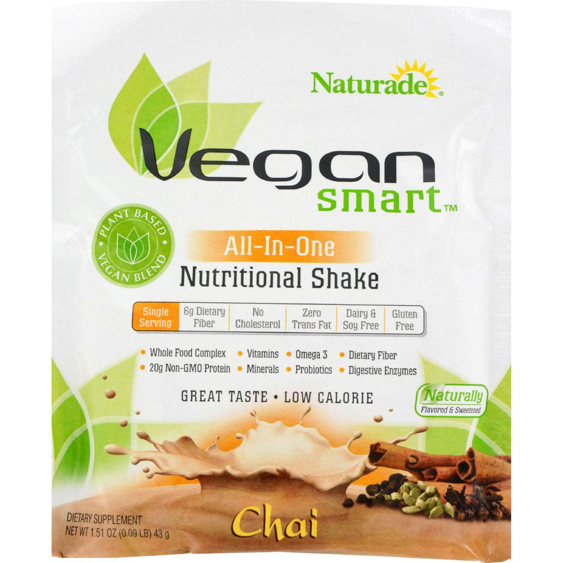 Mother Mantis: Naturade Vegansmart All-in-one Nutritional Shake - Chai - 1.51 Oz - Case Of 12 Naturade