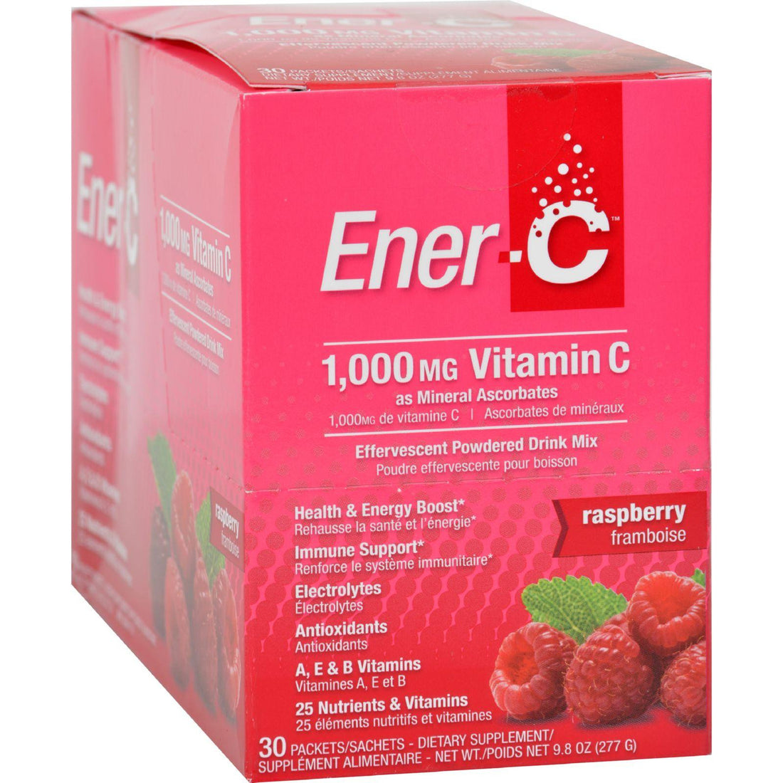 Mother Mantis: Ener-c Vitamin Drink Mix - Raspberry - 1000 Mg - 30 Packets Ener-c