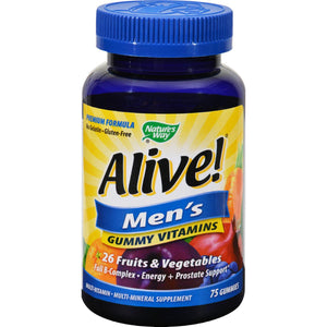 Nature's Way Alive - Men's Energy Gummy Multi-vitamins - 75 Chewables Nature's Way