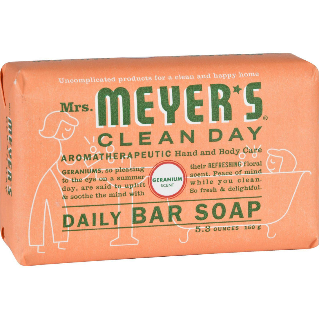 Mother Mantis: Mrs. Meyer's Bar Soap - Geranium - 5.3 Oz - Case Of 12 Mrs. Meyer's