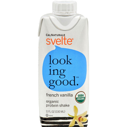 Svelte Protein Shake - Organic French Vanilla - 11 Oz - Case Of 8 Svelte