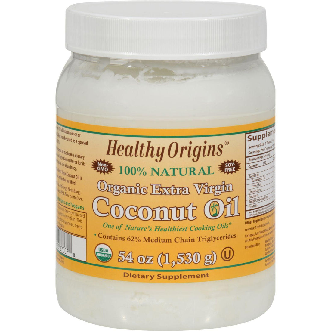 Mother Mantis: Healthy Origins Coconut Oil - Organic Extra Virgin - 54 Oz Healthy Origins